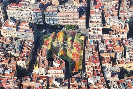 Barcelone - Vue sur le marché de Santa Caterina